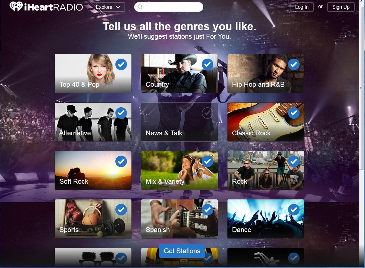 Select everything but News & Talk to help bury Leo's dumb radio show.
