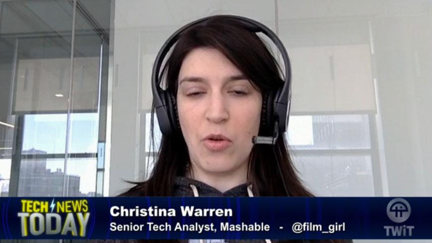Christina Warren makes no sense whenever she opens her mouth.