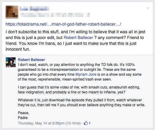 Fr. Ballecer's Response