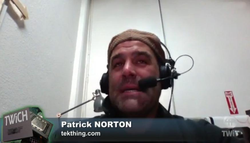 Patrick Norton looks like hell. Nice runny nose, Patrick.