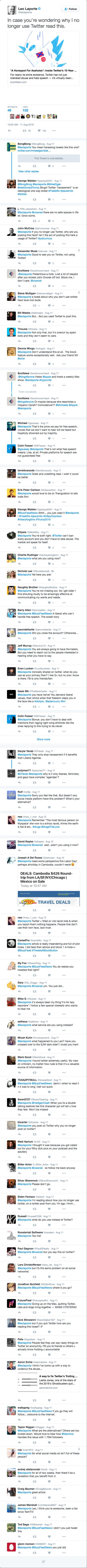 Reactions to Leo Laporte on Twitter
